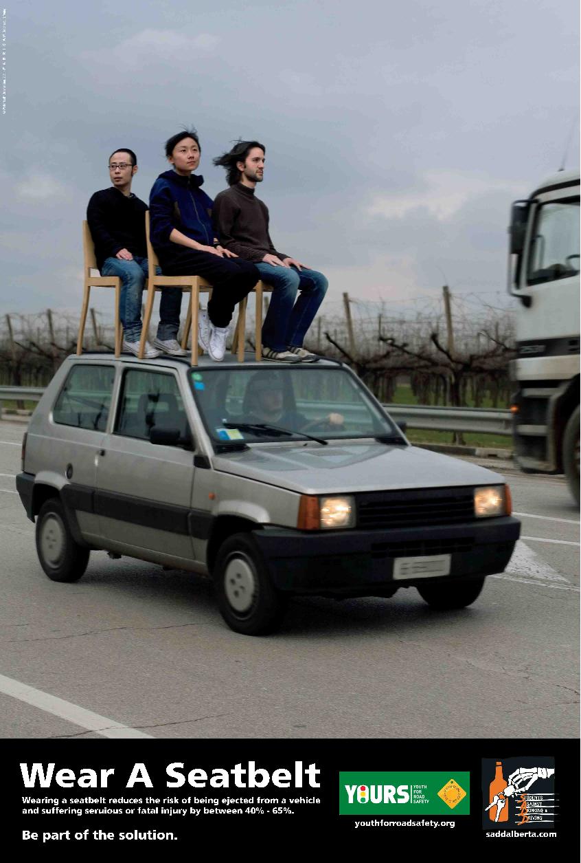 Risks of No Seatbelts Poster